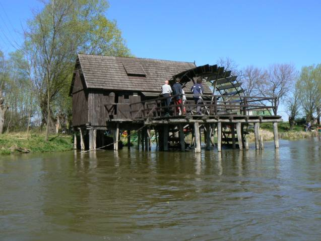 pôvodný zachovaný vodný mlyn