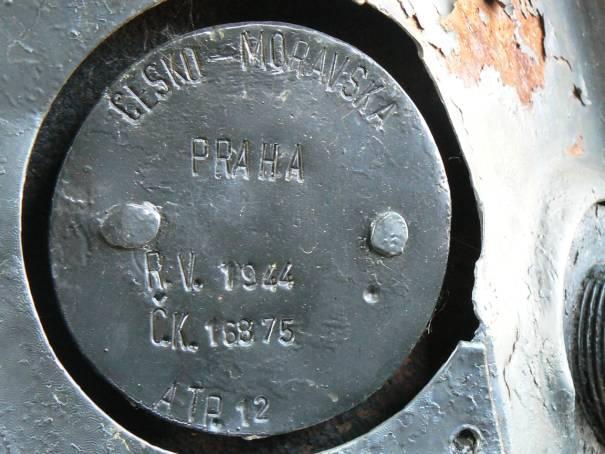 kotlový štítok lokomotívy BS - 70